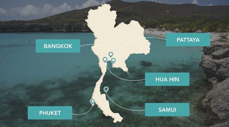 Les plus grandes villes de Thaïlande