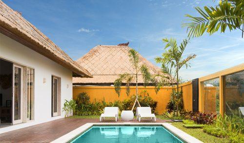 Villa avec terrasse et piscine en plein milieu des rizières d'Ubud