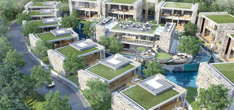 Belle résidence moderne et écologique avec piscines