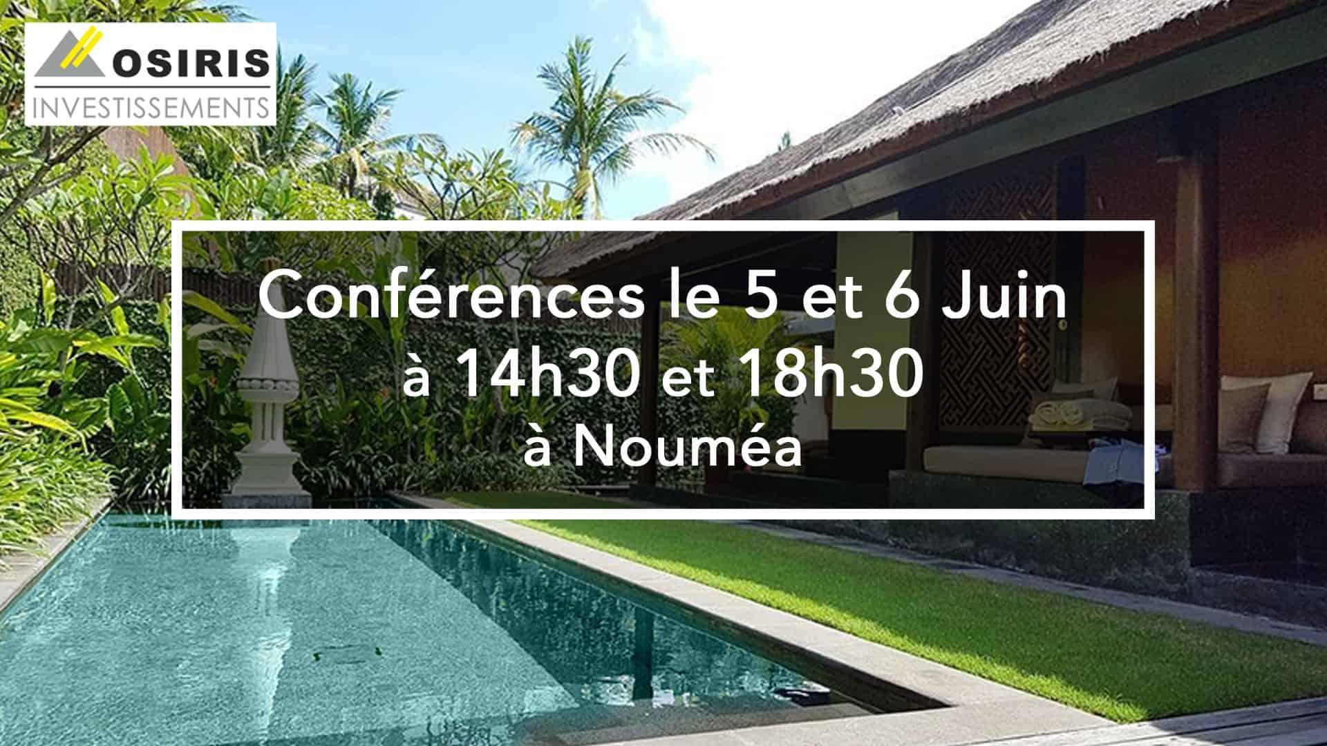 Conférences le 5 et 6 Juin à Nouméa