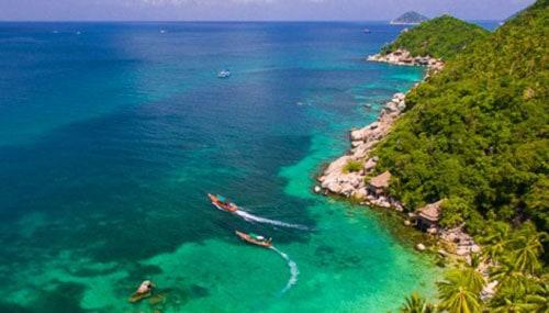 Magnifique vue sur le mer à Koh Ta